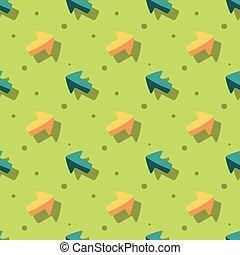 Arrow Navigation Symbol Cute Style Seamless Background
