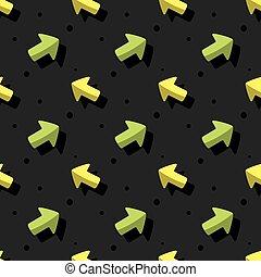 Arrow Navigation Symbol Cute Style Seamless Dark Background