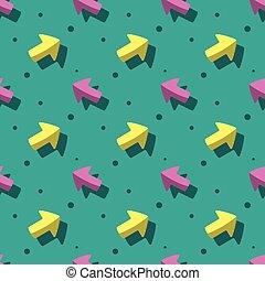 Arrow Navigation Symbol Cute Style Seamless Pattern