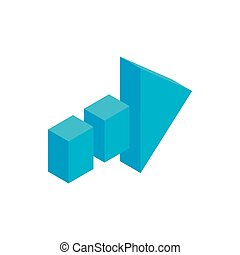 Arrow of broken line isometric 3d icon