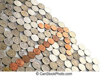 Arrow of coins