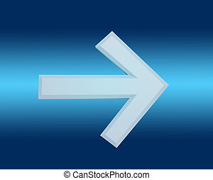 arrow on a blue background