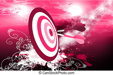 Arrow on bull - Two arrows pined in the bull eye of target...