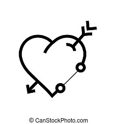 Arrow on target heart bullseye illustration arrow on archery target arrow on heart icon altavistaventures Image collections