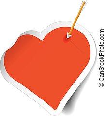 Arrow on target heart bullseye illustration arrow on archery target arrow on sticker heart altavistaventures Image collections