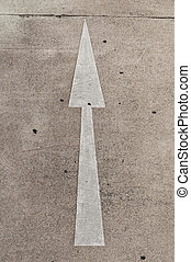 arrow on street