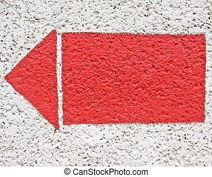 arrow on the wall