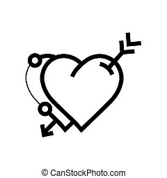 arrow on twins heart icon