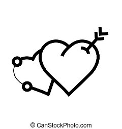 arrow on two heart icon