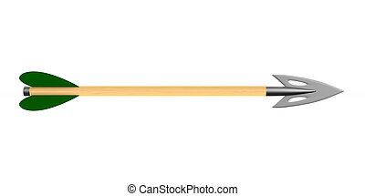 Arrow on white background. Isolated 3D illustration