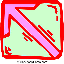 arrow on white background