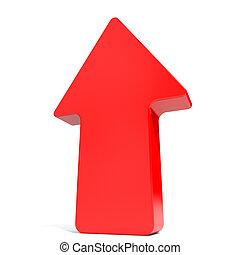 arrow., op, rood