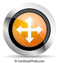 arrow orange icon