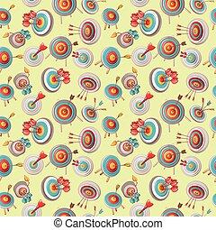 Arrow pattern seamless, cartoon style