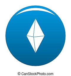 Arrow pin icon blue
