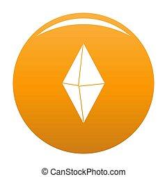Arrow pin icon orange