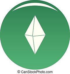 Arrow pin icon vector green