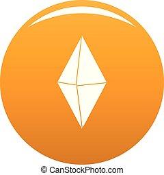 Arrow pin icon vector orange