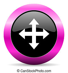 arrow pink glossy icon