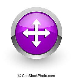 arrow pink glossy web icon