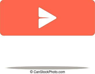 Arrow point icon - go button for web