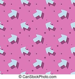 Arrow Pointer Cute Symbol Flat Seamless Pattern