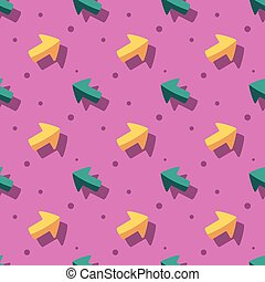 Arrow Pointer Cute Symbol Seamless Pattern