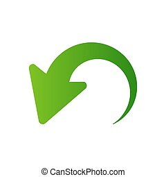 Arrow pointer icon isolated on white background. Vector illustration