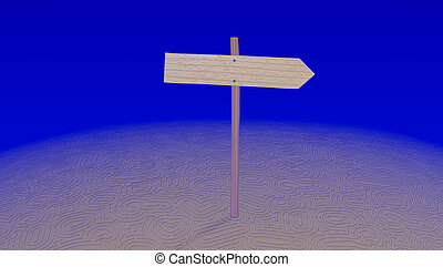 Arrow pointer on a maze