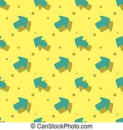 Arrow Pointer Symbol Cute Style Flat Seamless Pattern
