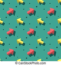 Arrow Pointer Symbol Cute Style Seamless Pattern