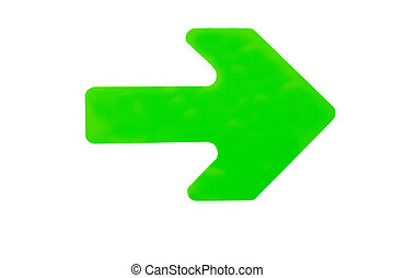 arrow pointing in direction