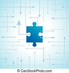 Arrow puzzle vector