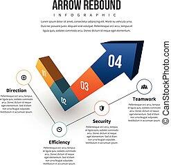 Arrow Rebound Infographic - Vector illustration of arrow...