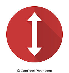 arrow red flat icon