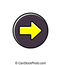 Arrow right button icon