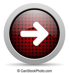 arrow right glossy icon