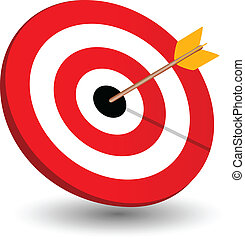 Arrow right on target, symbol of winning