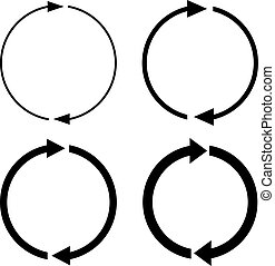 Arrow rotation vector icon
