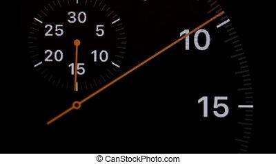 arrow running stopwatch macro shot