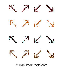 Arrow Set 2 - Giraffe Print