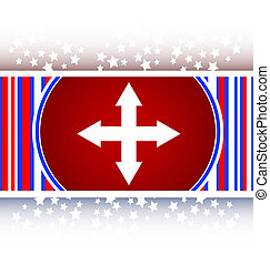 arrow set on web icon (button)