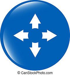 arrow set on web icon (button) isolated on white