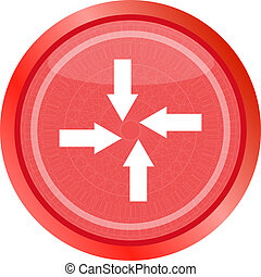 arrow set on web icon button. Trendy flat style sign isolated on white background
