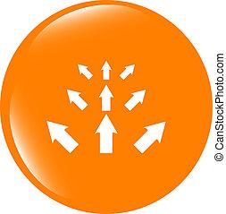 arrow set. web icon button isolated on white