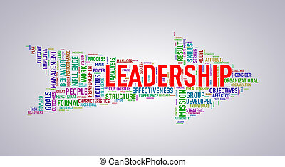 Arrow shape wordtag wordcloud leadership