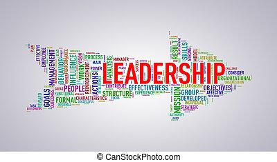 Arrow shape wordtag wordcloud leadership