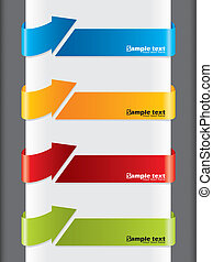 Arrow shaped advertising label set of four