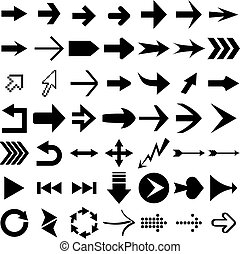 Arrow shapes - Vector set of arrow shapes isolated on white.