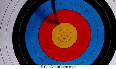 Arrow shooting at the target